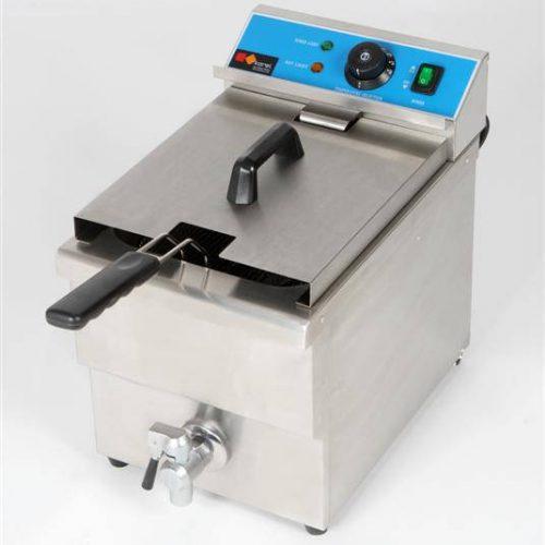 Friggitrice elettrica 1 vasca da 8 litri con scarico Karel