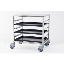 Carrello porta teglie in acciaio inox, 6 teglie GI.Metal