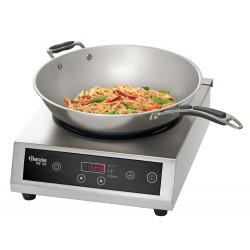 Piastra ad induzione per wok con padella e coperchio
